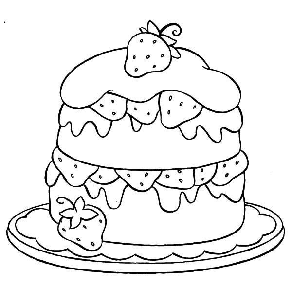 strawberry cake coloring pages strawberry cake coloring pages kerra cake strawberry pages coloring