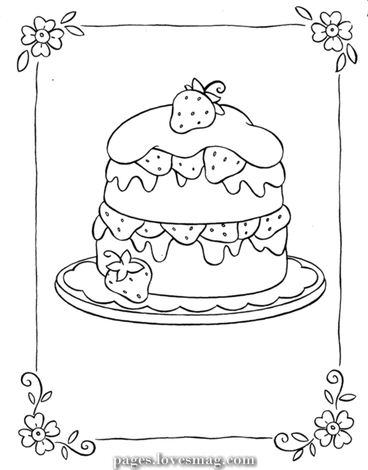 strawberry cake coloring pages strawberry cake for coloring coloring plate coloring coloring pages strawberry cake