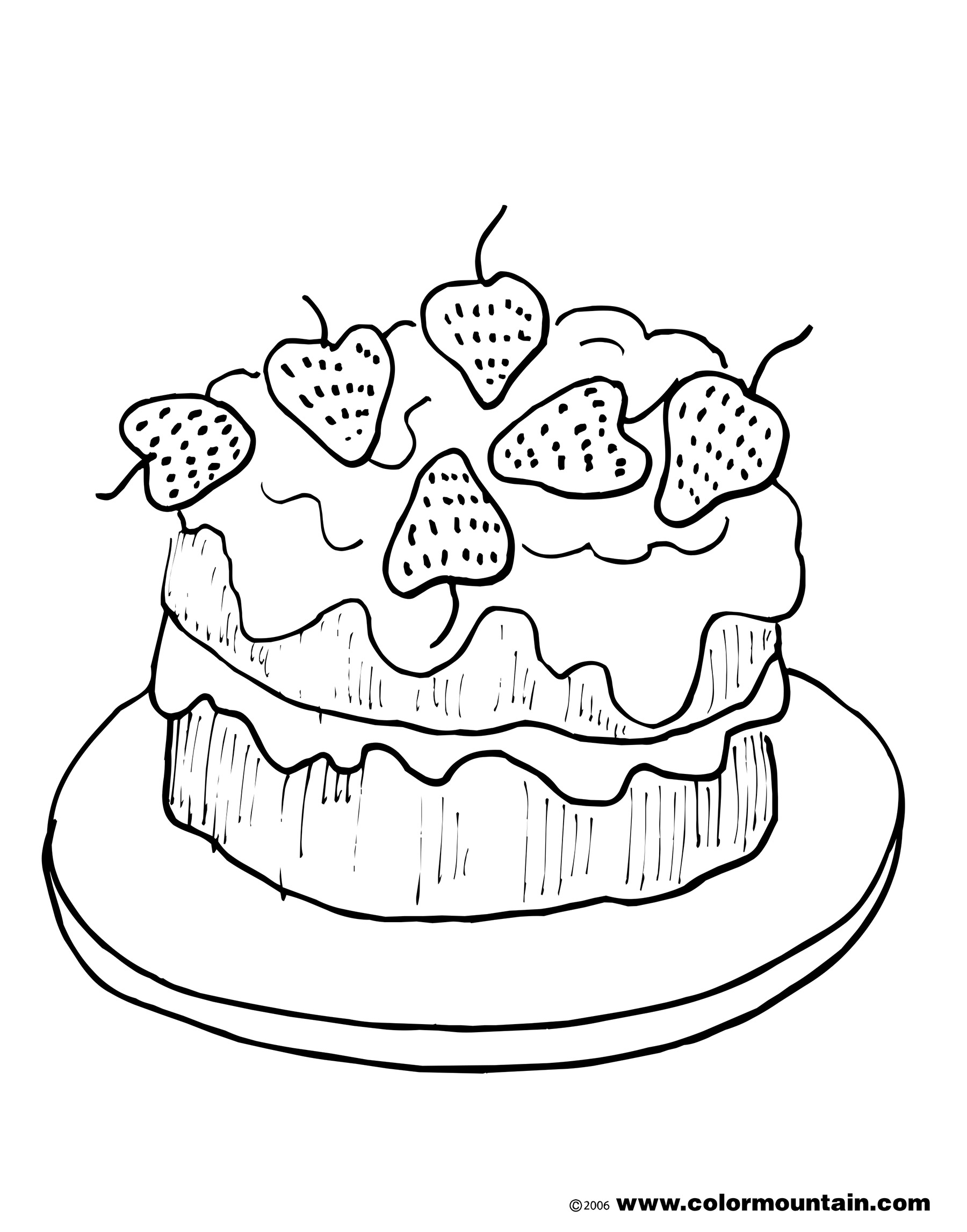 strawberry cake coloring pages strawberry cake slice coloring pages strawberry cake coloring cake pages strawberry