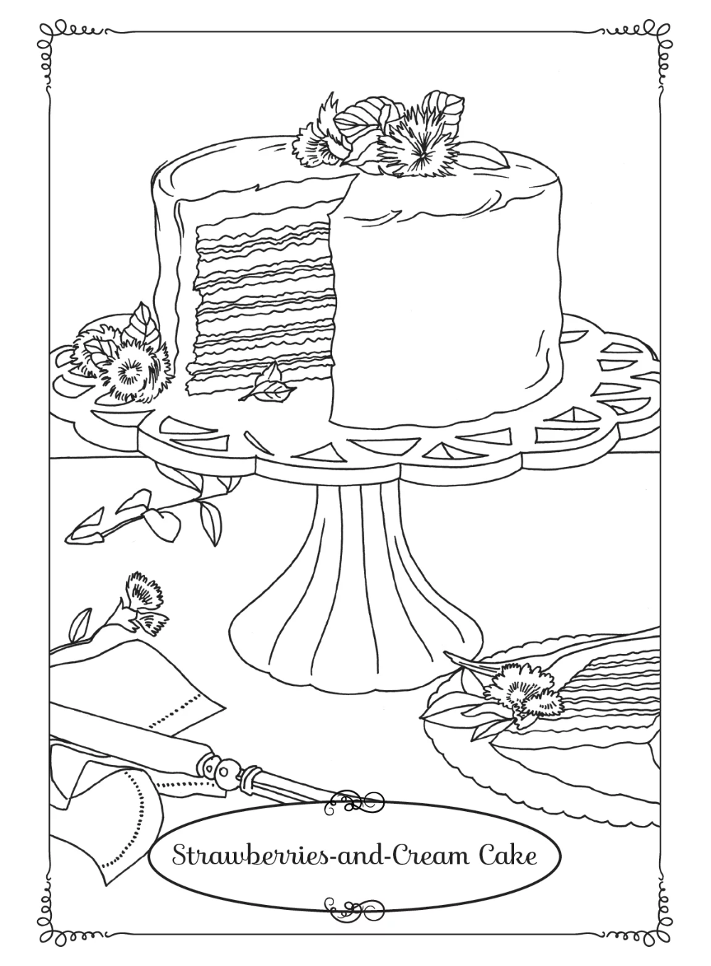 strawberry cake coloring pages strawberry cheese cake coloring page cookie pinterest coloring strawberry pages cake