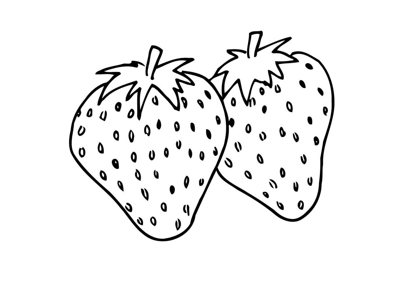 strawberry coloring image strawberries drawing at getdrawings free download image coloring strawberry