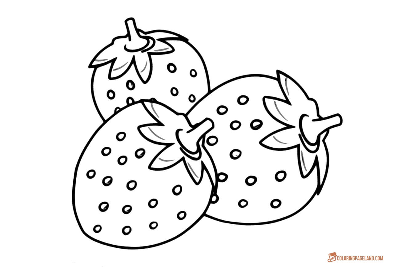 strawberry coloring image strawberry coloring pages coloringall image strawberry coloring