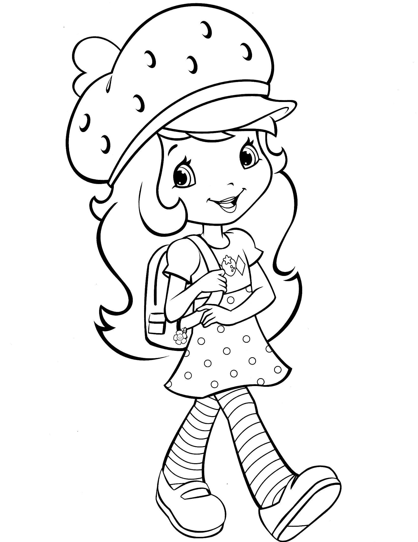 strawberry shortcake drawing pages strawberry shortcake 43 coloringcolorcom strawberry drawing shortcake pages
