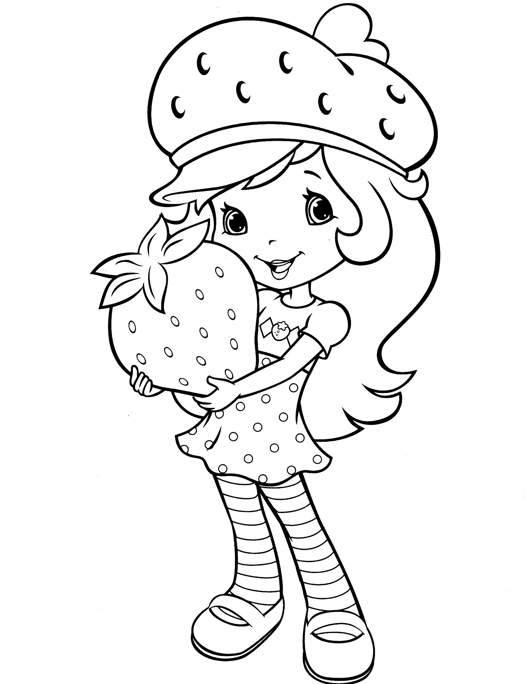 strawberry shortcake drawing pages strawberry shortcake coloring pages coloring pages for kids strawberry drawing pages shortcake