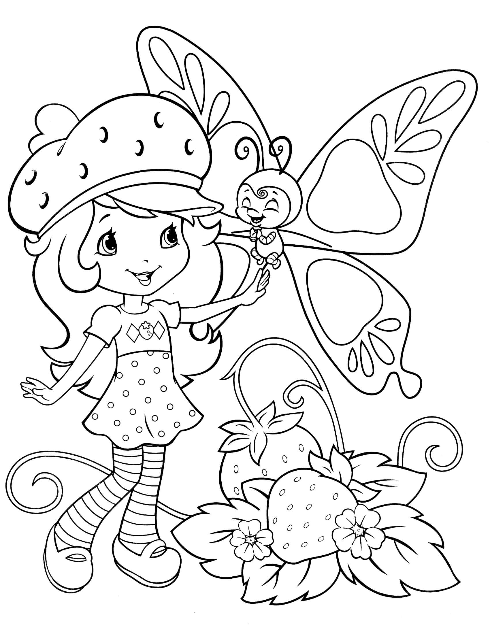 strawberry shortcake drawing pages strawberry shortcake coloring pages free printable strawberry shortcake drawing pages