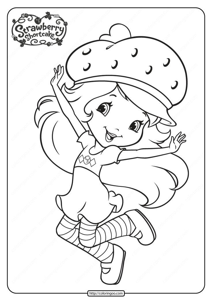 strawberry shortcake pictures to color printable strawberry shortcake coloring pages 14 in 2020 strawberry pictures color to shortcake