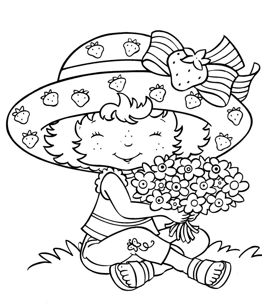 strawberry shortcake pictures to color strawberry shortcake 51 coloringcolorcom to shortcake strawberry color pictures
