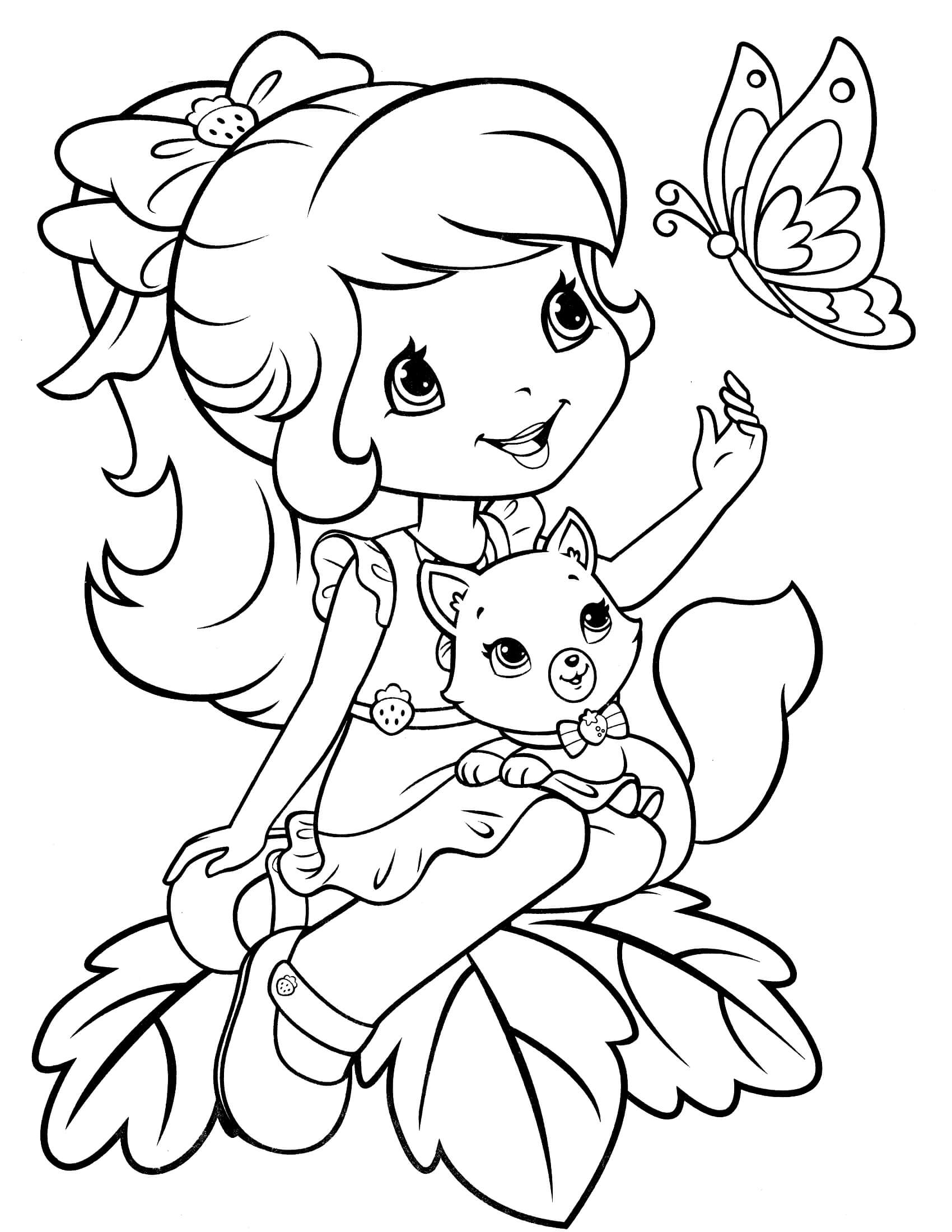 strawberry shortcake pictures to color strawberry shortcake 52 coloringcolorcom strawberry pictures to color shortcake
