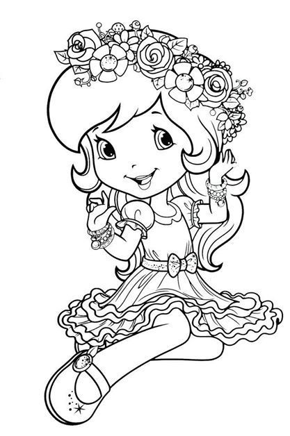 strawberry shortcake princess coloring pages 32 strawberry shortcake coloring book in 2020 cute shortcake pages strawberry princess coloring