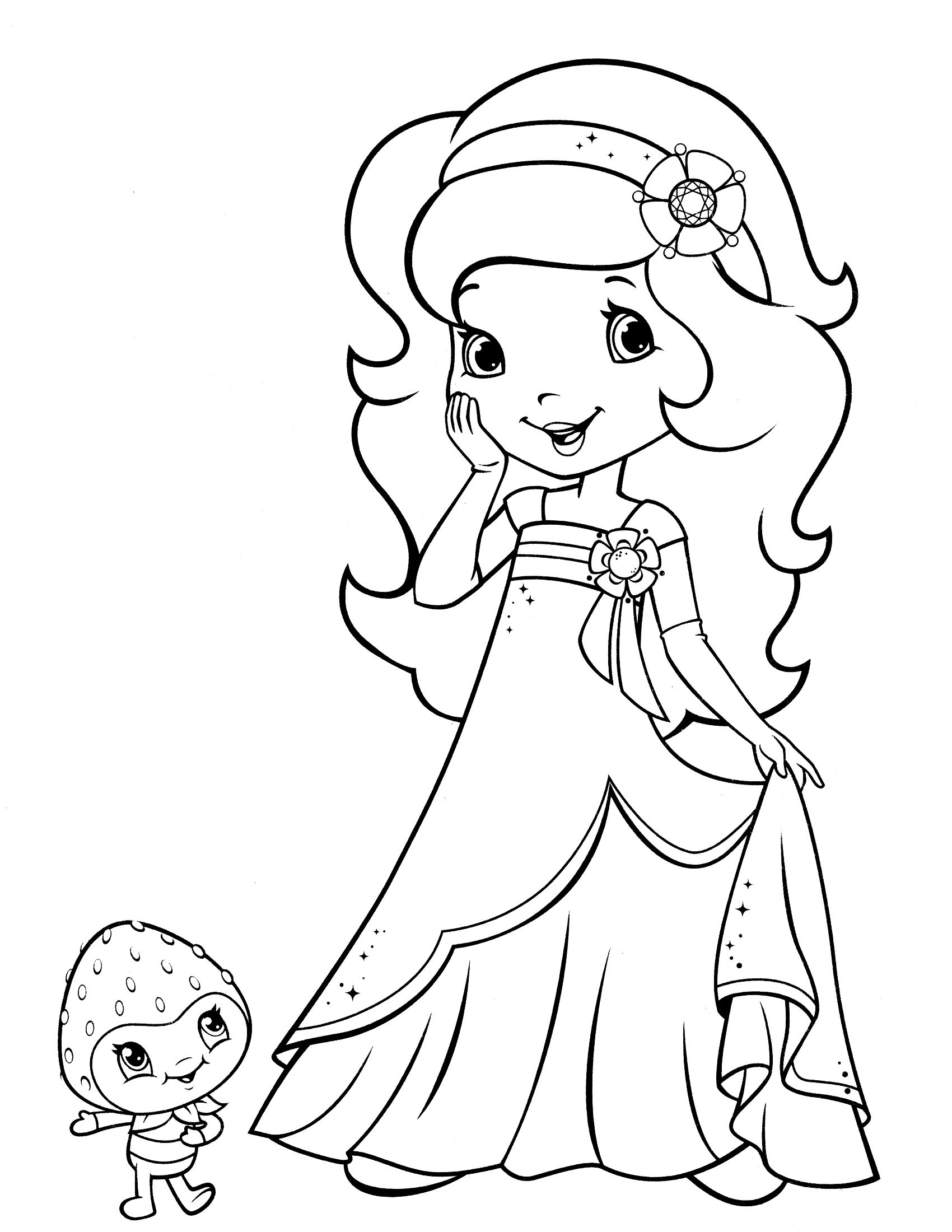 strawberry shortcake princess coloring pages ilove quotprincessesquot strawberry shortcake 9271200 coloring shortcake strawberry pages princess
