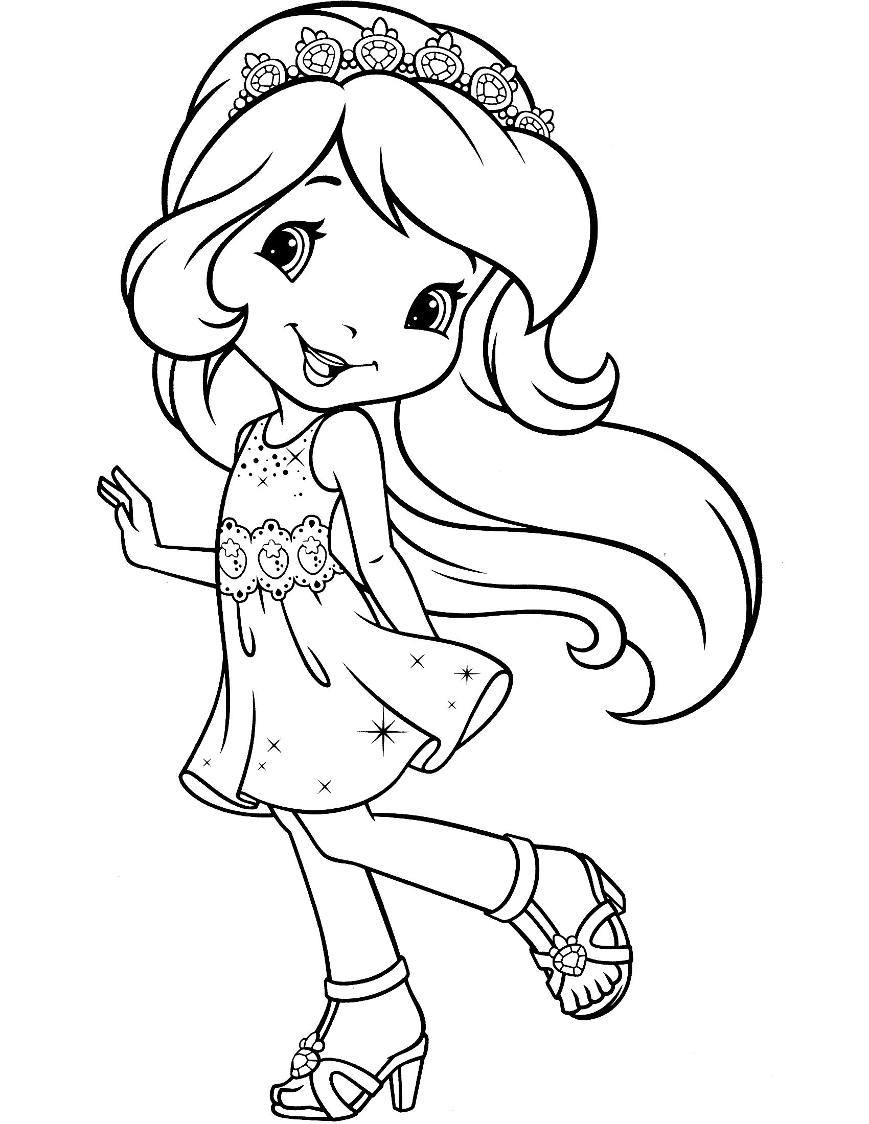 strawberry shortcake princess coloring pages princess strawberry shortcake coloring pages shortcake strawberry pages princess coloring