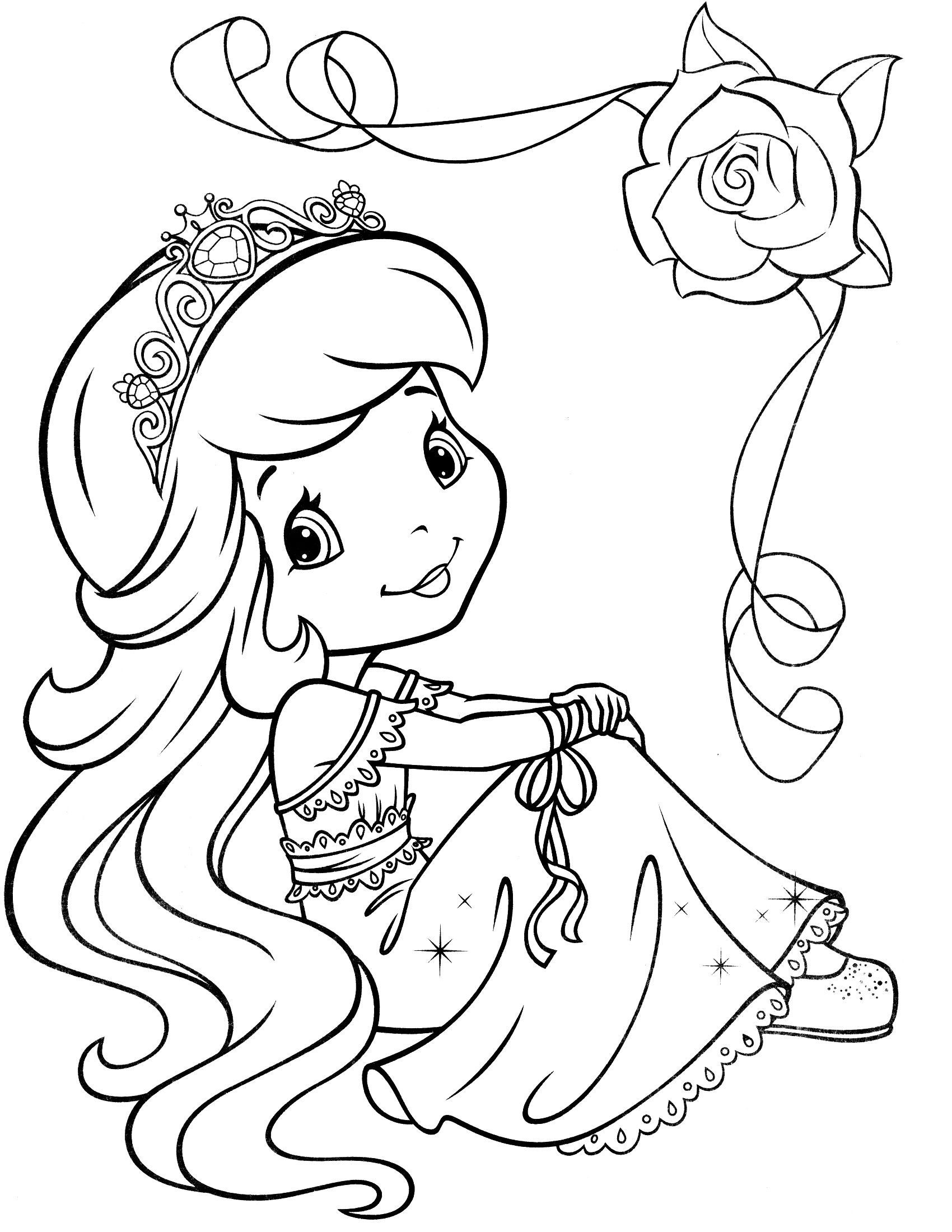 strawberry shortcake princess coloring pages strawberry shortcake 69 coloringcolorcom shortcake coloring strawberry princess pages