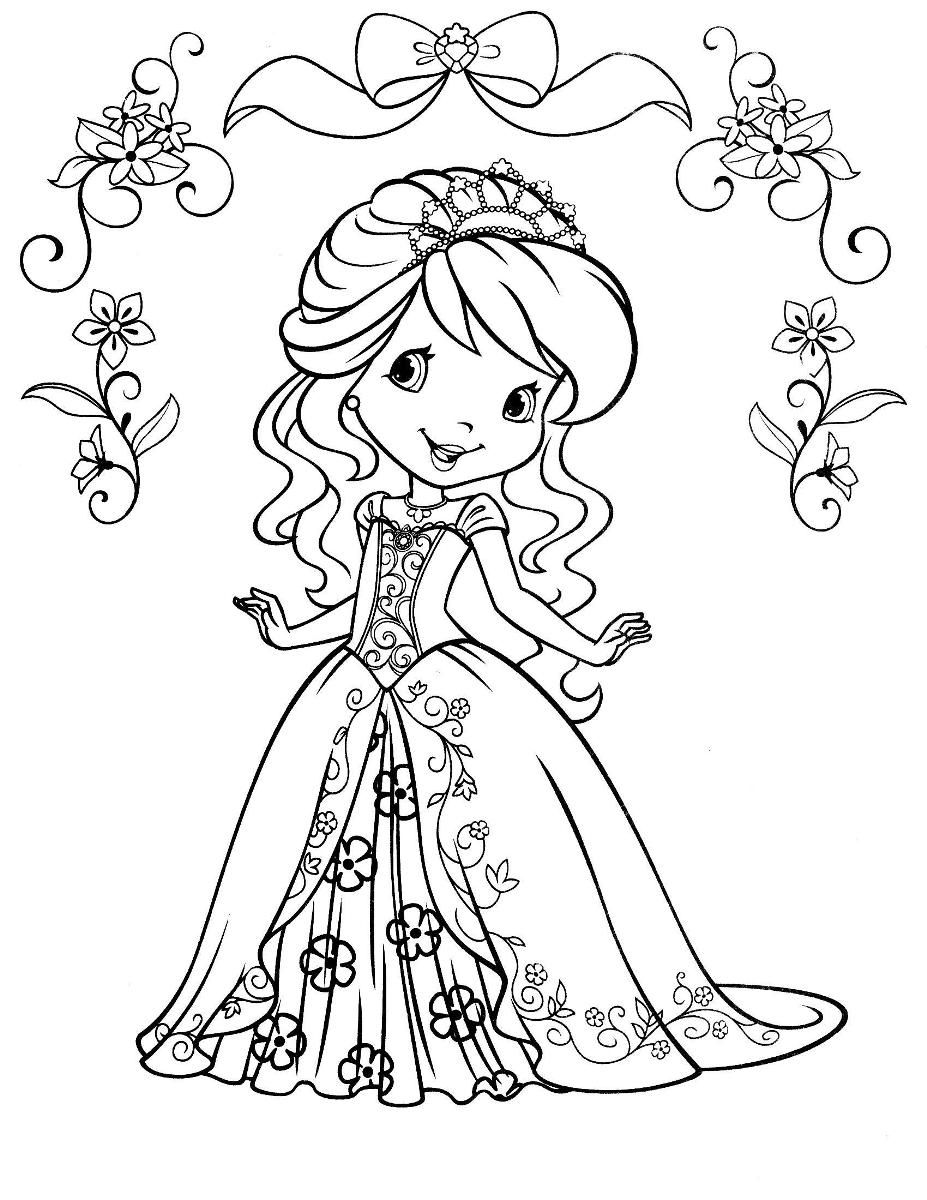 strawberry shortcake princess coloring pages strawberry shortcake beautiful princess of strawberryland strawberry coloring pages shortcake princess