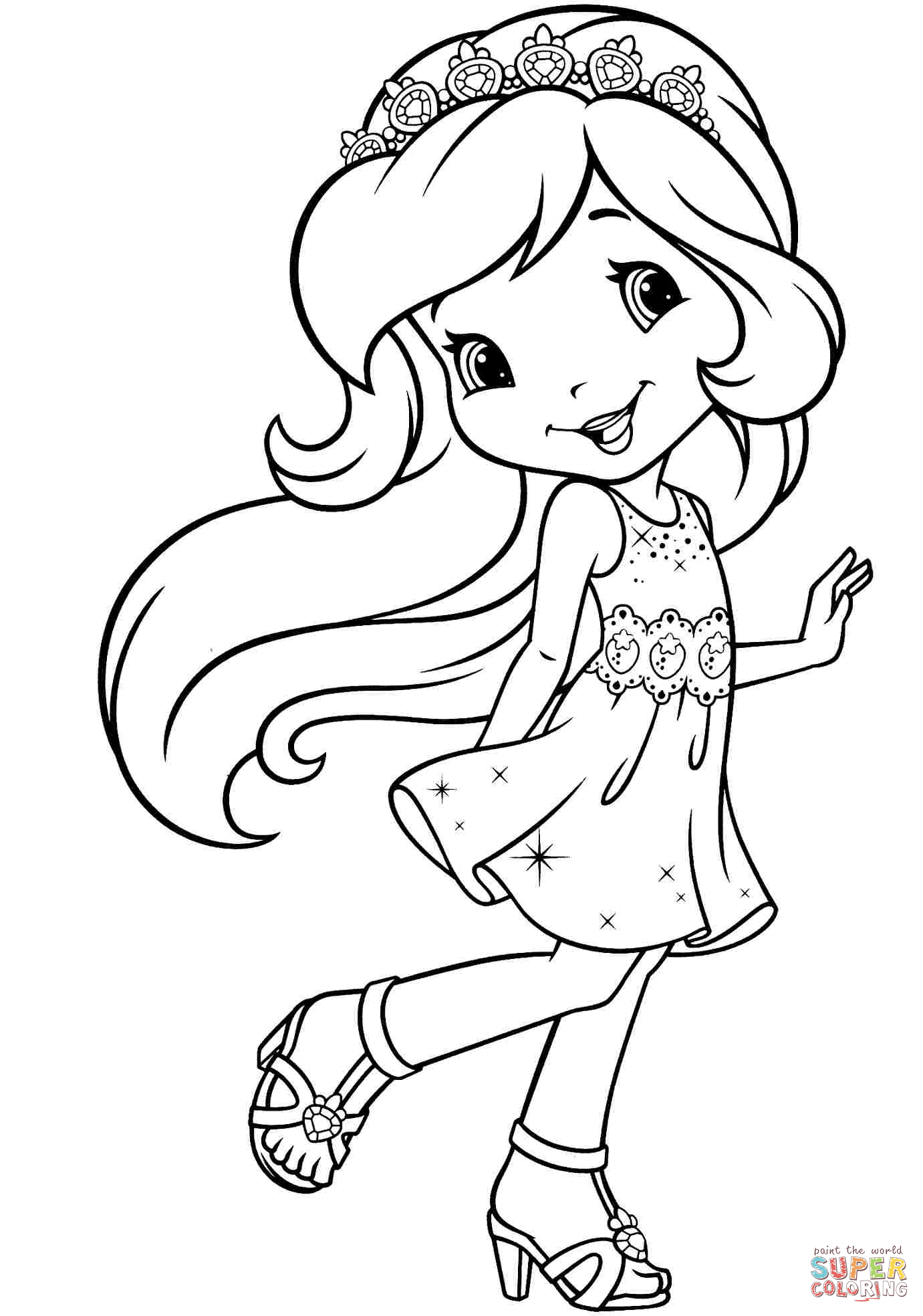 strawberry shortcake princess coloring pages strawberry shortcake coloring page desenhos para coloring shortcake strawberry pages princess