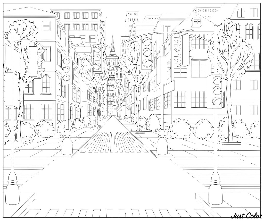 street coloring pages along the street coloring page crayolacom pages street coloring