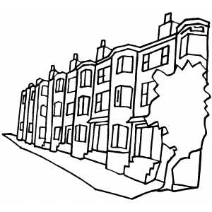 street coloring pages apartment buildings on the street coloring page coloring pages street