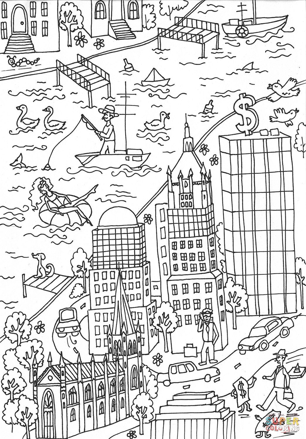 street coloring pages creative haven main street coloring book teresa goodridge pages coloring street