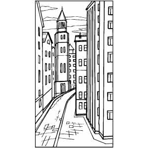 street coloring pages curved town street coloring page pages street coloring