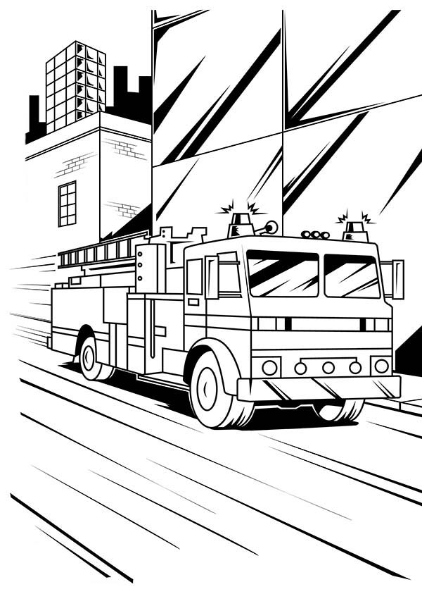 street coloring pages fire engine on down town street coloring pages kids play street coloring pages