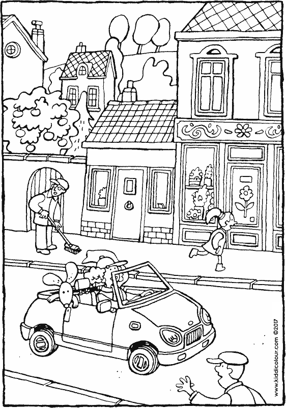 street coloring pages houses colouring pages page 2 of 3 kiddi kleurprenten coloring street pages