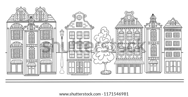 street coloring pages sketch town street coloring book page stock vector pages coloring street