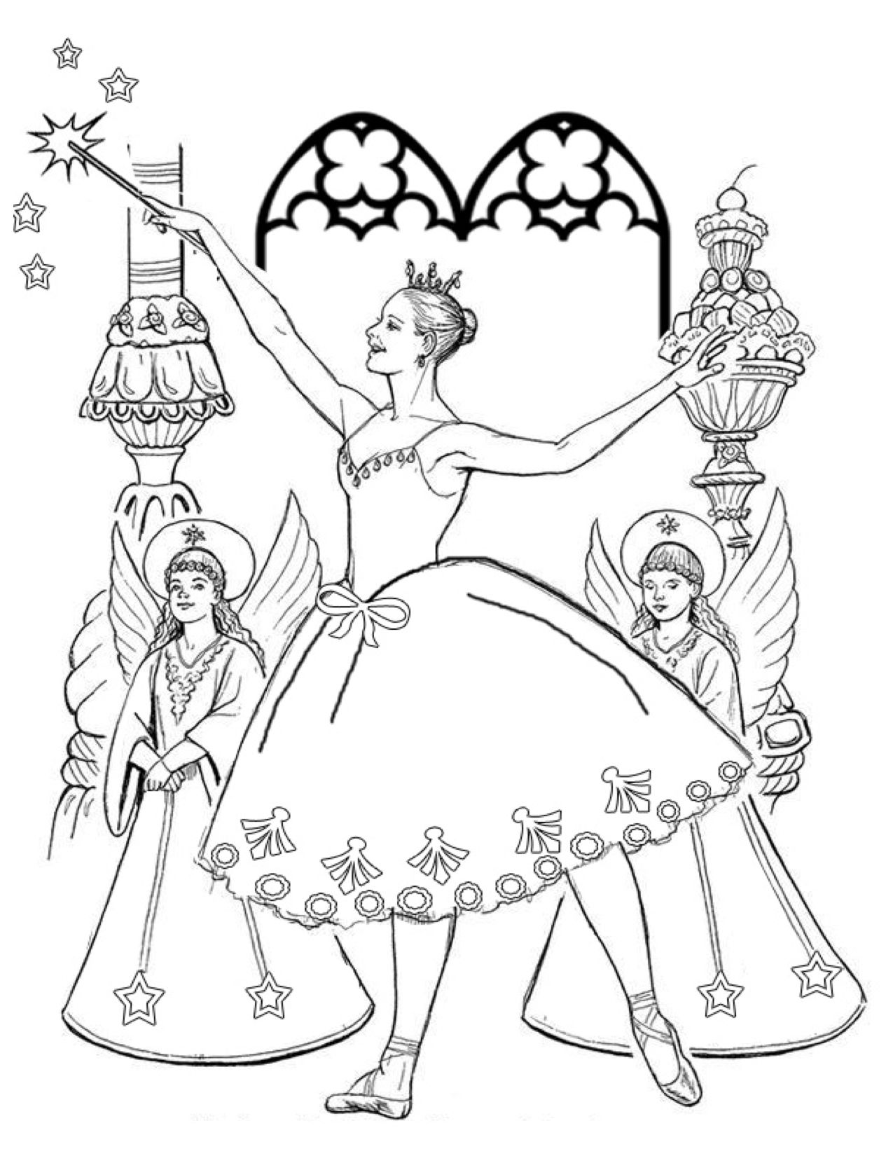 sugar plum fairy coloring page sugar plum fairy drawing at getdrawings free download page fairy sugar coloring plum