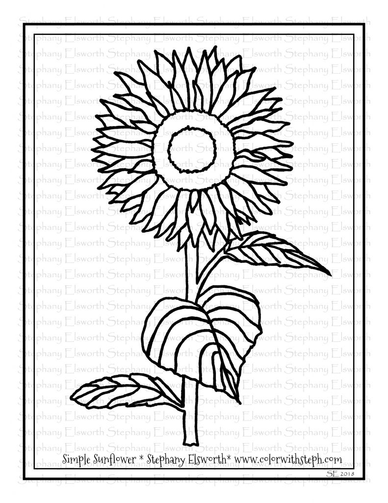 sunflower coloring free printable sunflower coloring pages for kids sunflower coloring 1 1