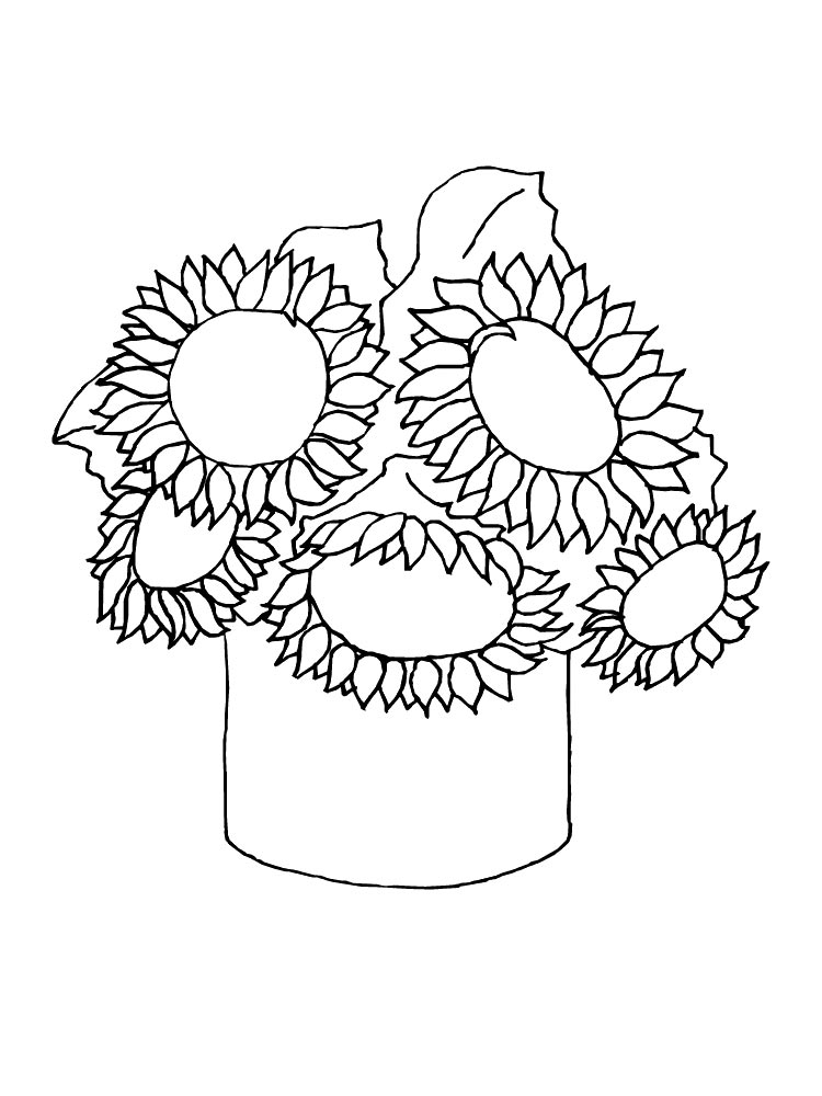 sunflower coloring page sunflower drawing simple at getdrawings free download coloring sunflower page