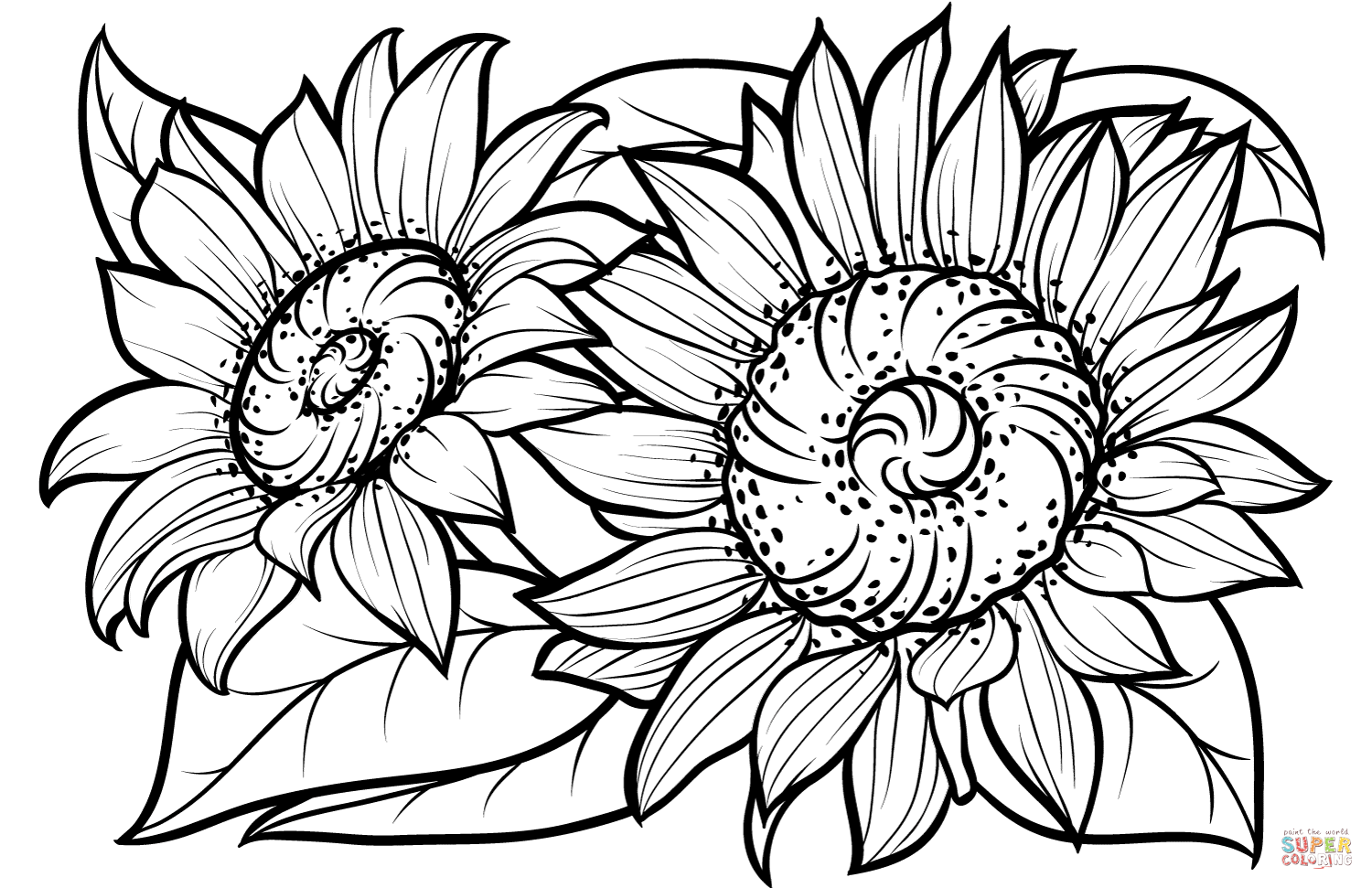 sunflower coloring page sunflower drawing simple at getdrawings free download sunflower coloring page