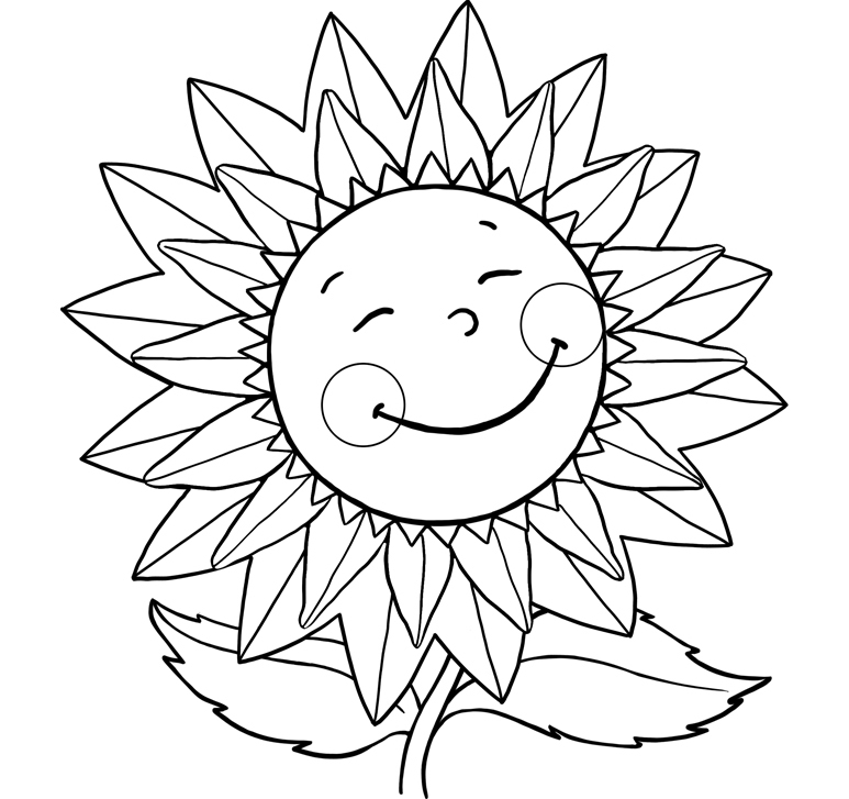 sunflower coloring sheets girls scouts sunny the sunflower sheets coloring pages sheets coloring sunflower