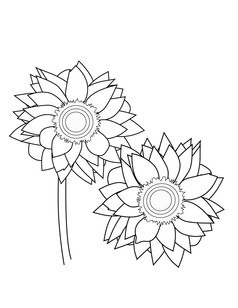 sunflower coloring sunflower coloring page printable summer coloring ebook sunflower coloring