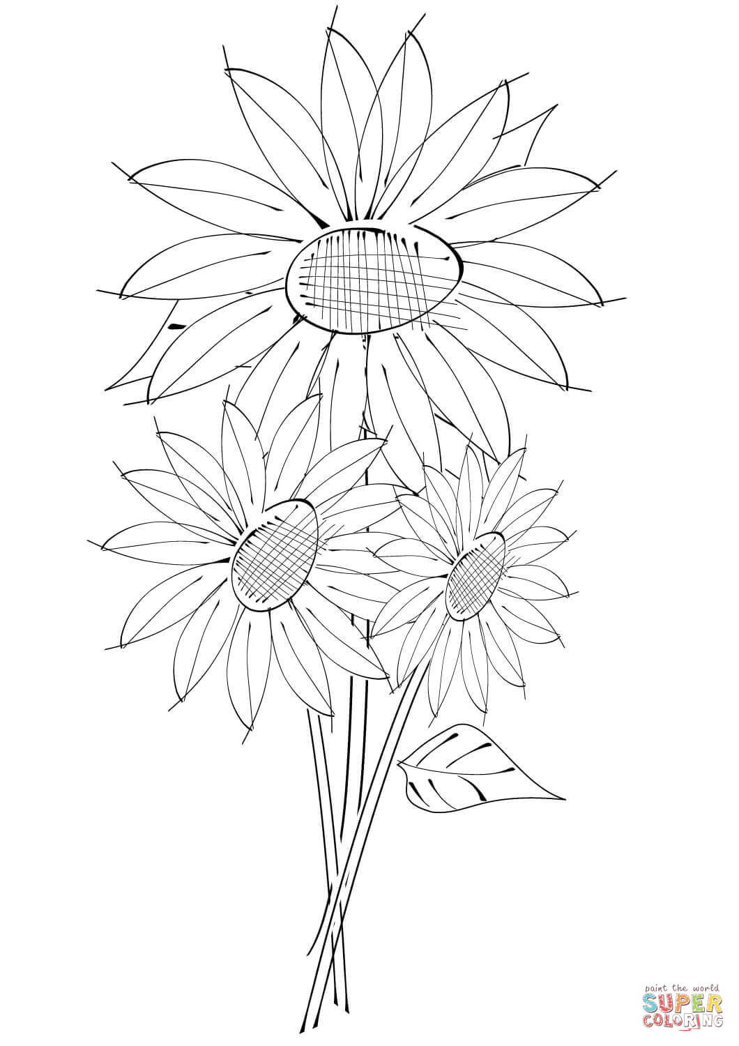 sunflower coloring sunflower drawing color at getdrawings free download coloring sunflower