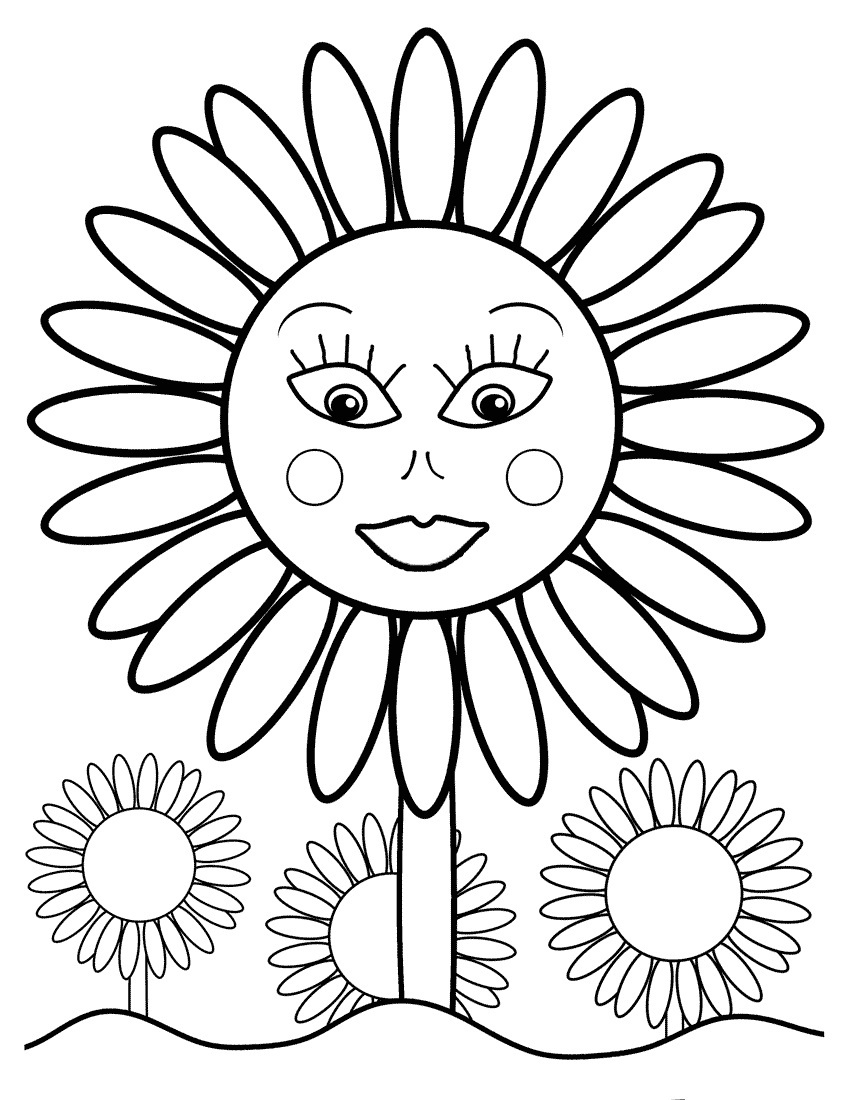 sunflower coloring sunflower printable instant download coloring page color sunflower coloring