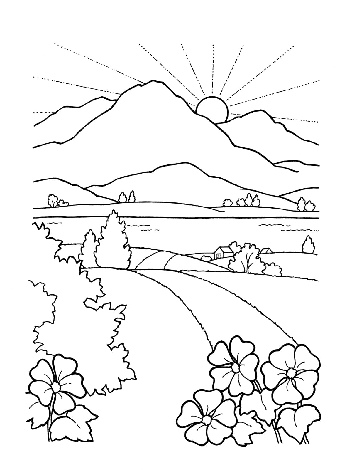 sunset coloring pages beach sunrise coloring page embroidery pattern beach art pages coloring sunset