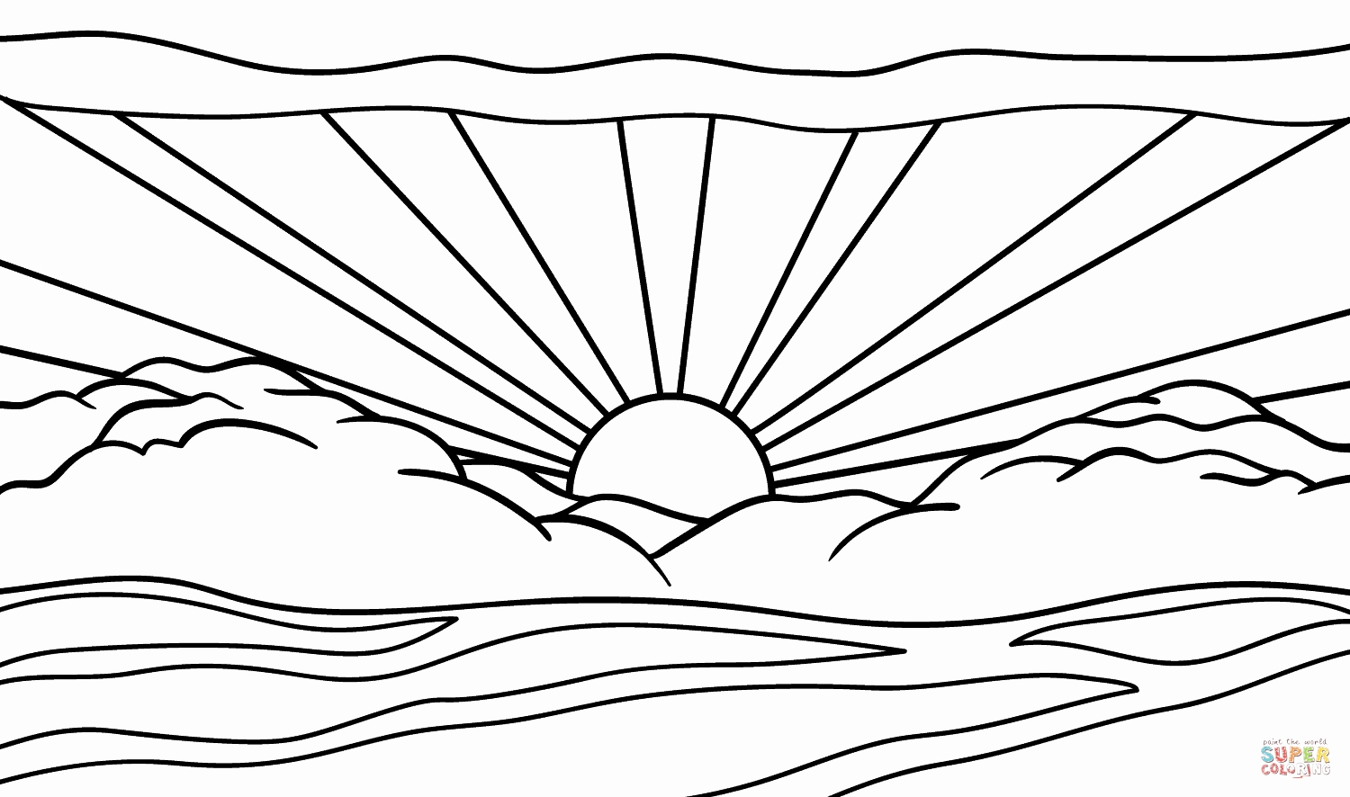 sunset coloring pages beach sunset coloring pages at getcoloringscom free sunset coloring pages
