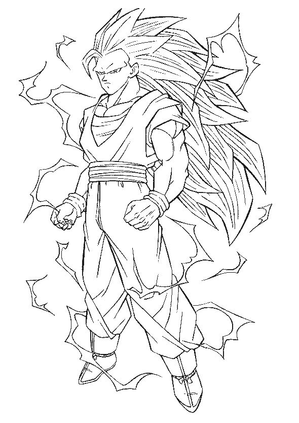 super saiyans coloring pages gohan super saiyan 2 coloring pages coloring home pages super coloring saiyans