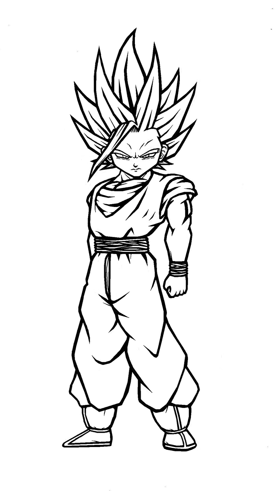 super saiyans coloring pages goku super saiyan 2 drawing at getdrawings free download pages super saiyans coloring