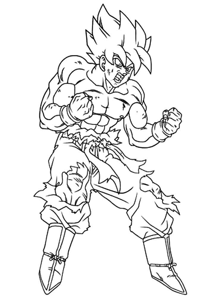 super saiyans coloring pages goku super saiyan drawing at getdrawings free download pages coloring super saiyans