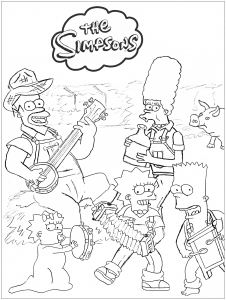 supreme simpsons coloring pages supreme simpsons coloring pages pages simpsons coloring supreme