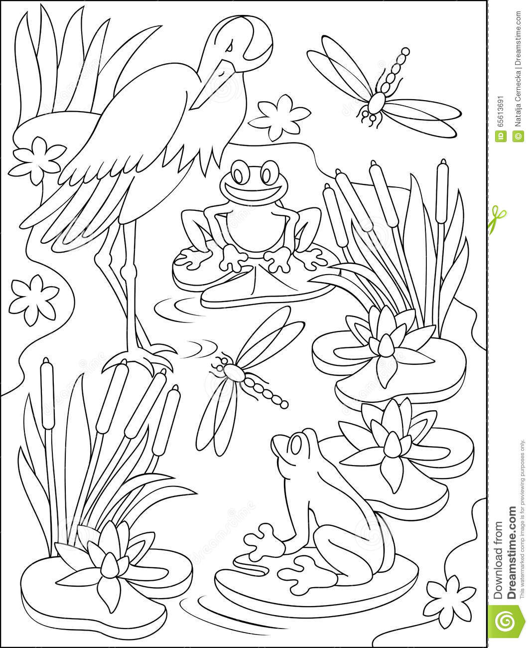 swamp coloring page draw a swamp draw swamps step by step drawing sheets page swamp coloring