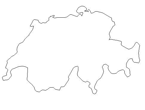 switzerland outline map outline maps of switzerland vector and gif map for youtube map outline switzerland