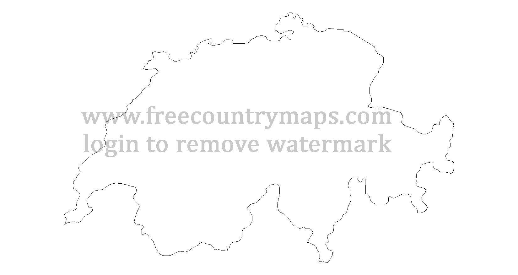 switzerland outline map outline maps of switzerland vector and gif map for youtube outline switzerland map