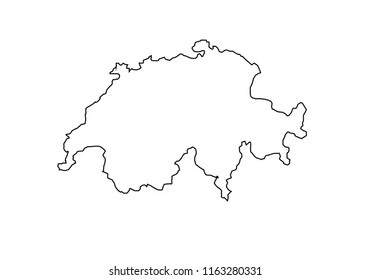 switzerland outline map quotswitzerland outlinequot images stock photos vectors switzerland map outline