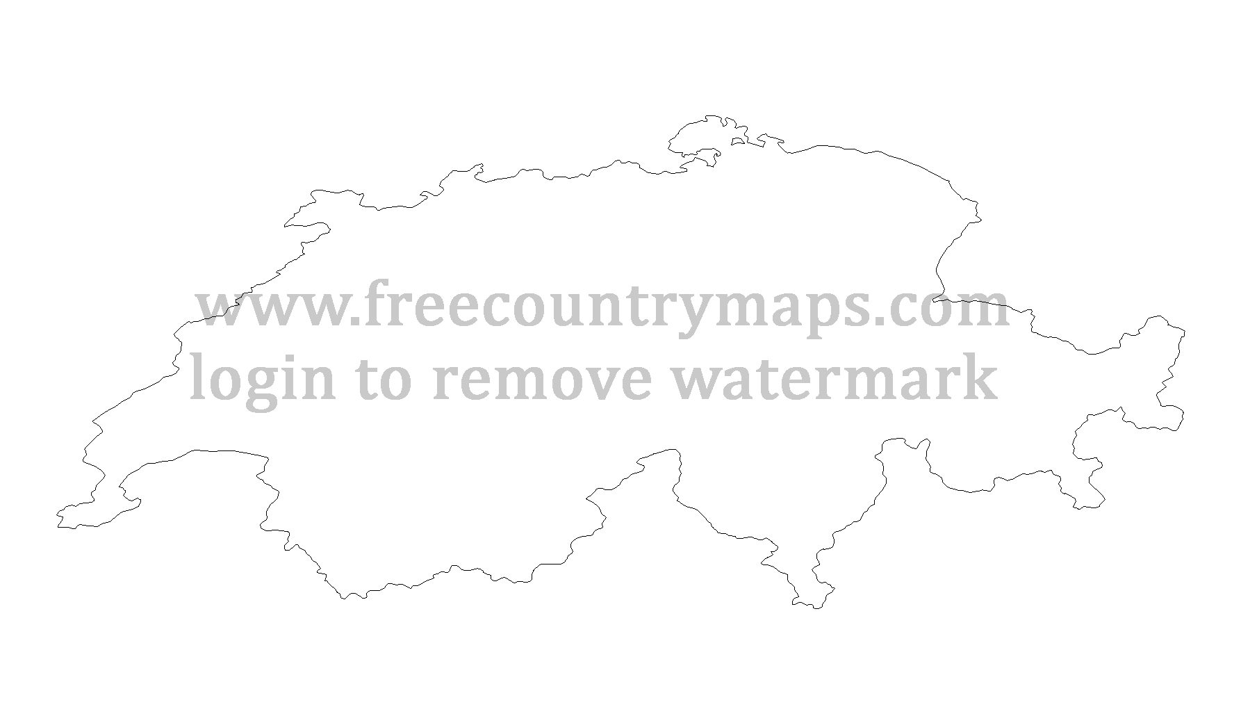 switzerland outline map switzerland free map free blank map free outline map map outline switzerland