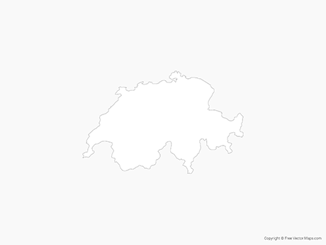 switzerland outline map switzerland map outline white background stock vector art switzerland outline map
