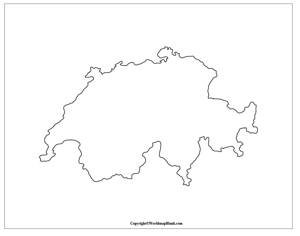 switzerland outline map switzerland map switzerland outline