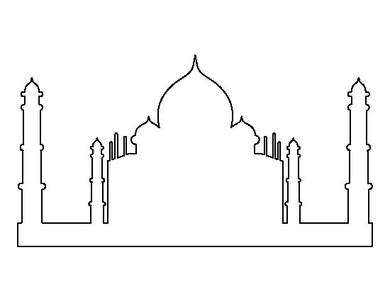 taj mahal outline drawing free download illustrations on behance taj mahal line taj mahal drawing outline