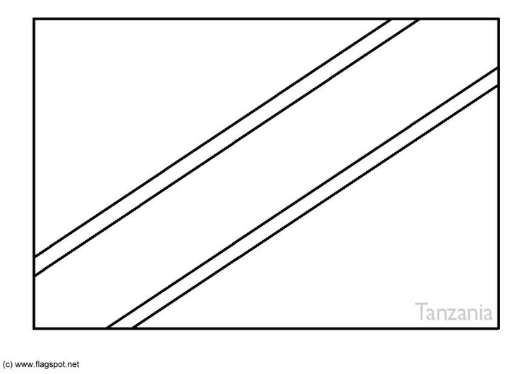 tanzania flag coloring page coloring page for the flag of tanzania coloring page flag tanzania