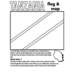 tanzania flag coloring page coloring pictures of the flags from spain to togo page flag tanzania coloring