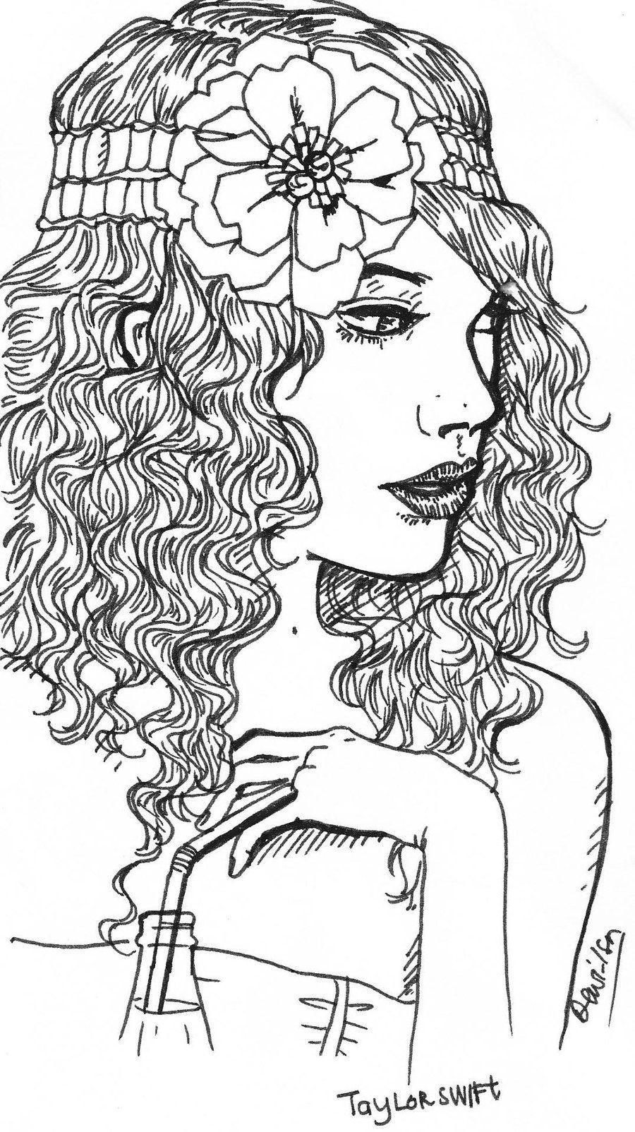 taylor swift coloring pages taylor swift drawing at getdrawings free download swift coloring taylor pages